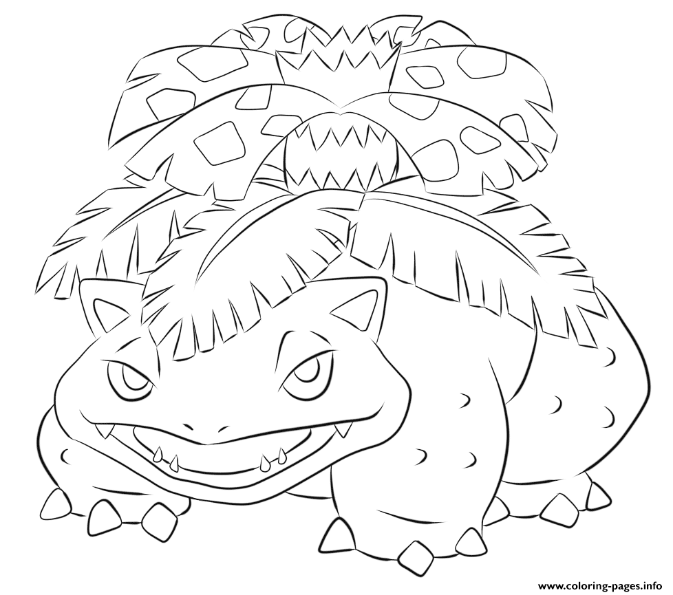 003 Venusaur Pokemon coloring pages