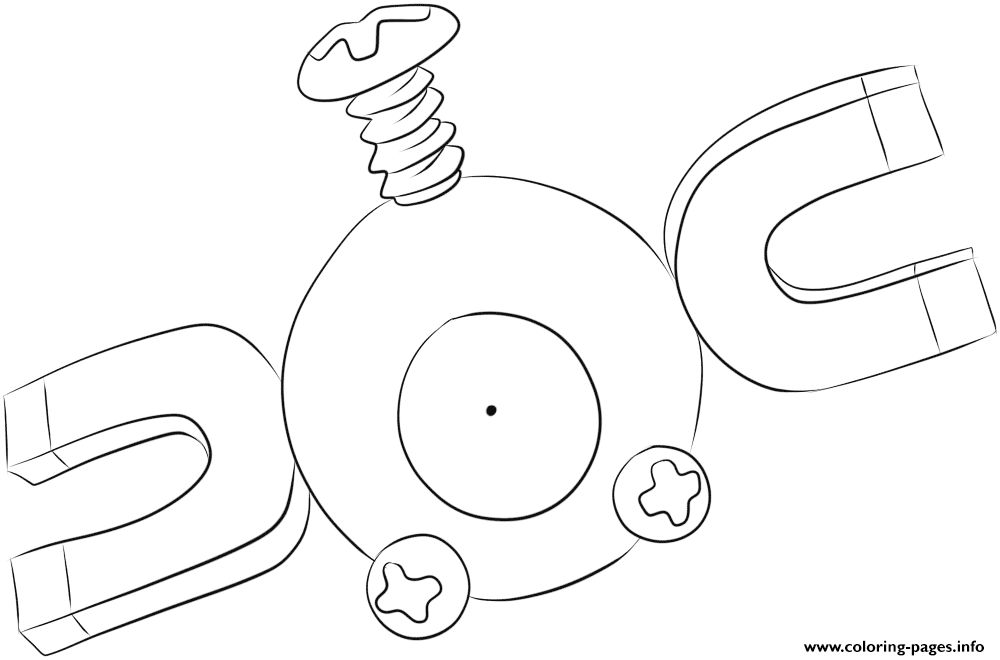 081 magnemite pokemon coloring pages