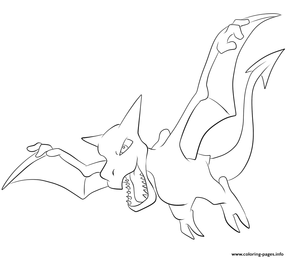 142 aerodactyl pokemon coloring pages printable
