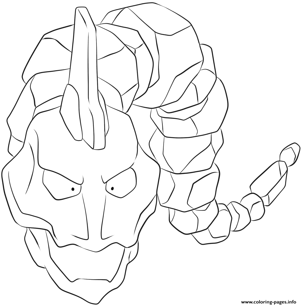 095 Onix Pokemon coloring pages