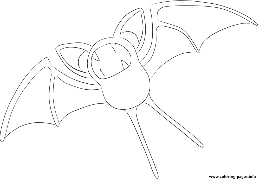 041 zubat pokemon coloring pages
