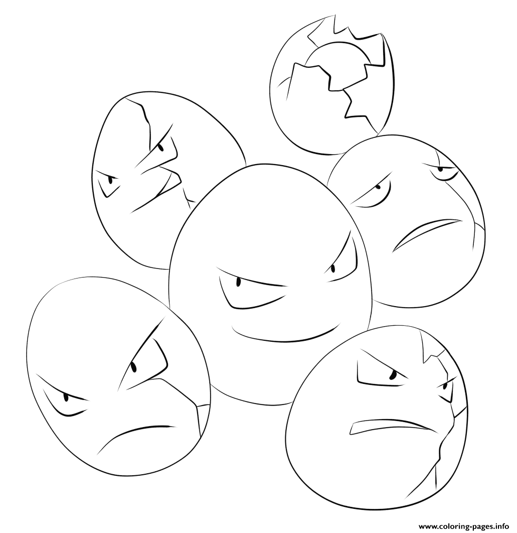 102 exeggcute pokemon coloring pages printable