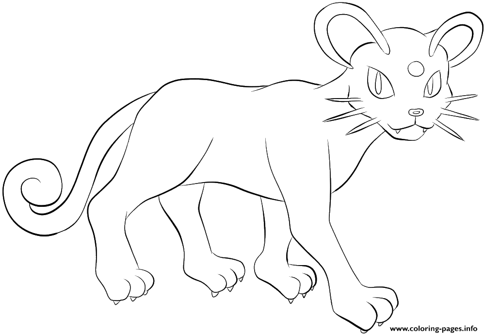 053 Persian Pokemon coloring pages