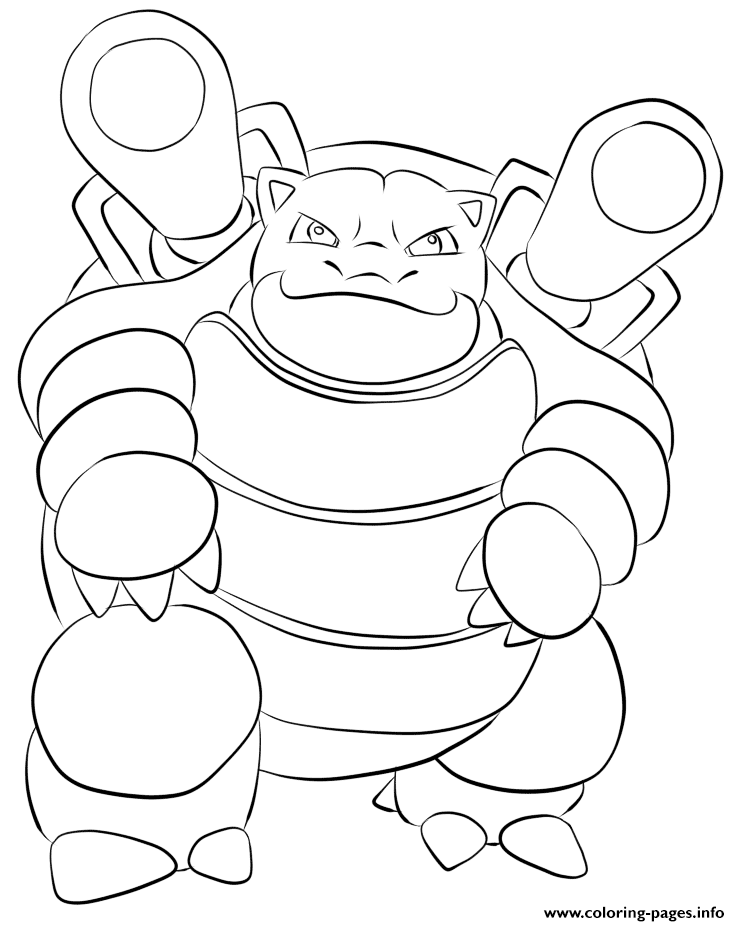 009 Blastoise Pokemon coloring pages