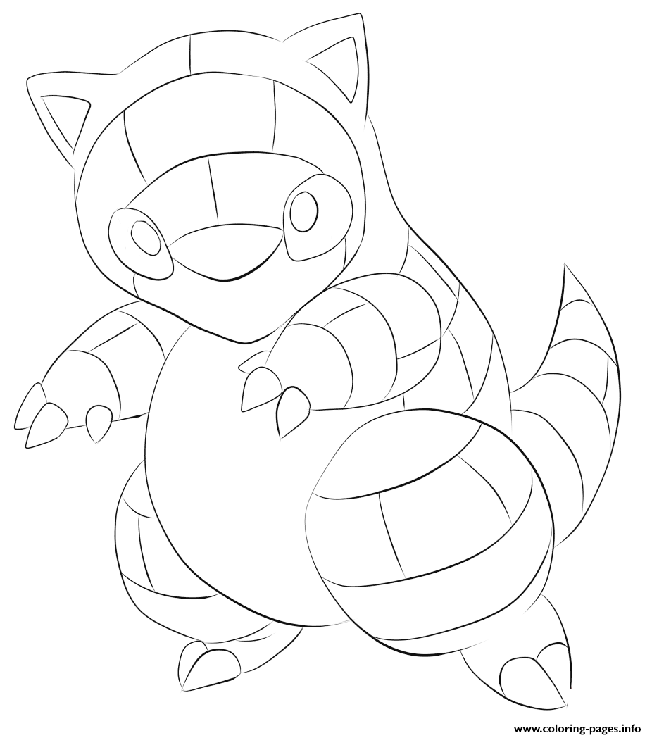 027 sandshrew pokemon coloring pages printable