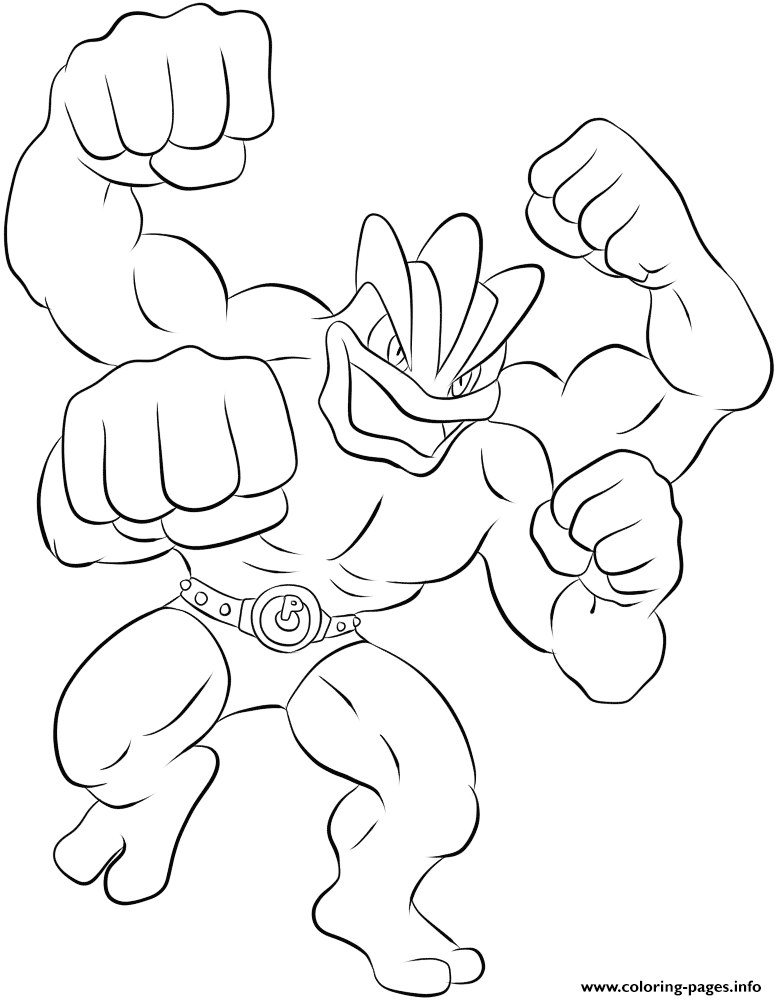 068 Machamp Pokemon Coloring Pages