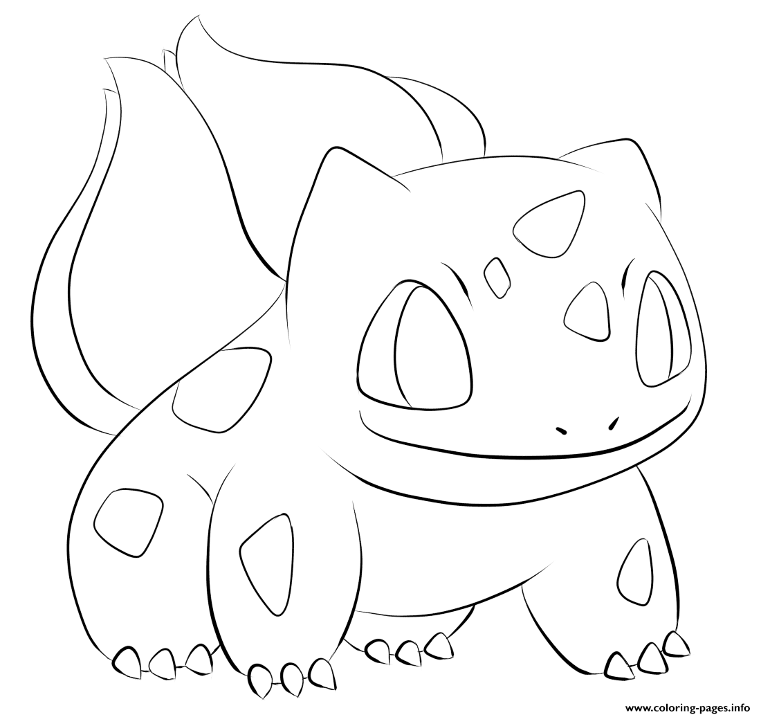 001 Bulbasaur Pokemon Coloring