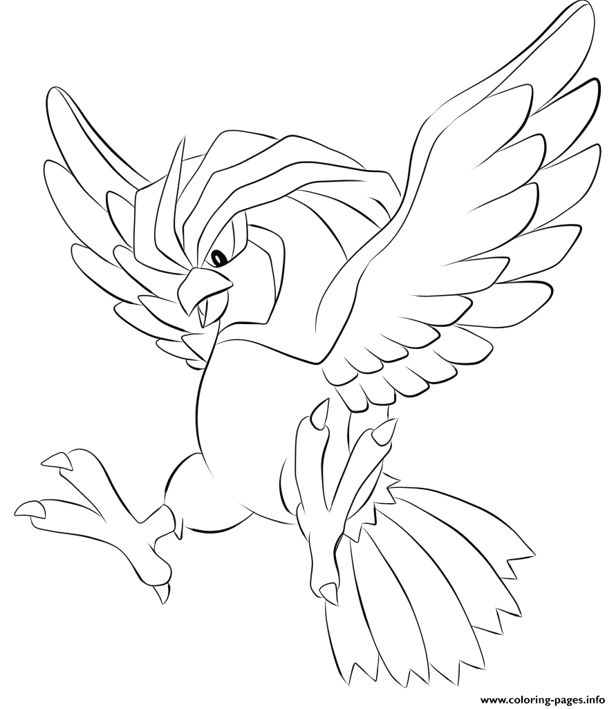 017 Pidgeotto Pokemon coloring pages