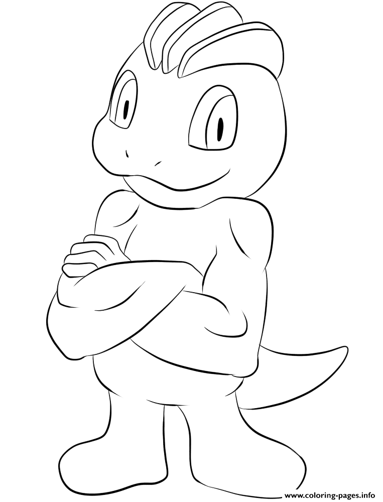 066 Machop Pokemon coloring pages