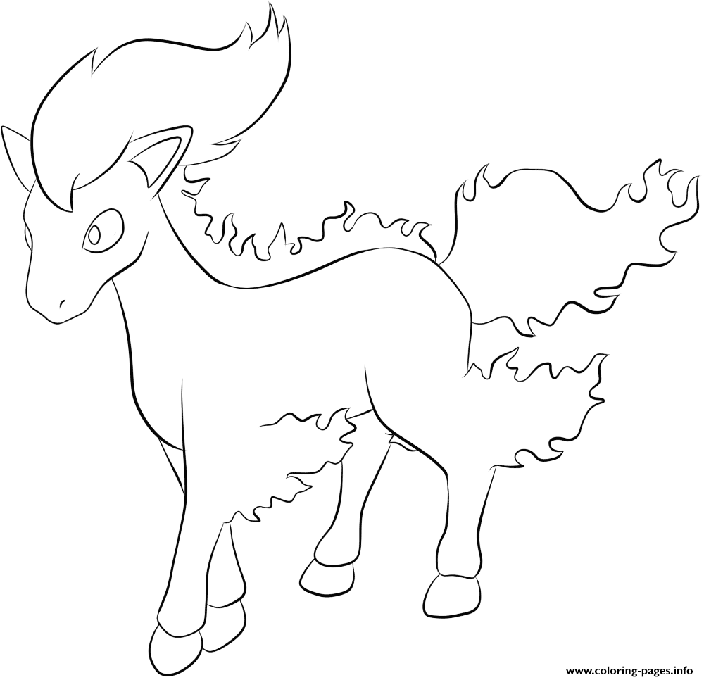 077 ponyta pokemon coloring pages printable