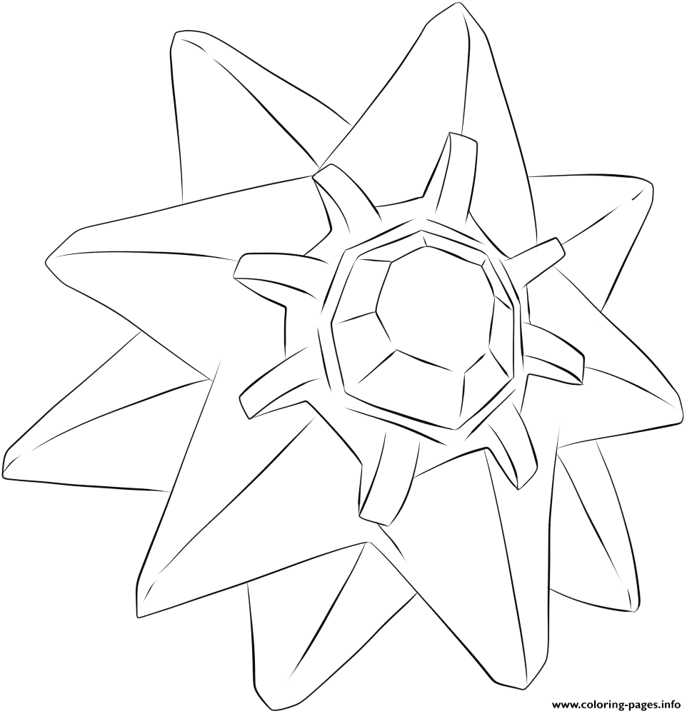 121 Starmie Pokemon coloring pages