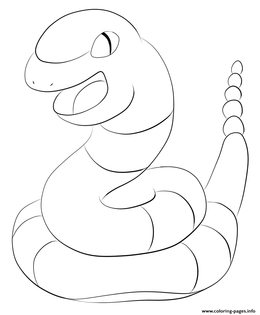 023 Ekans Pokemon coloring pages