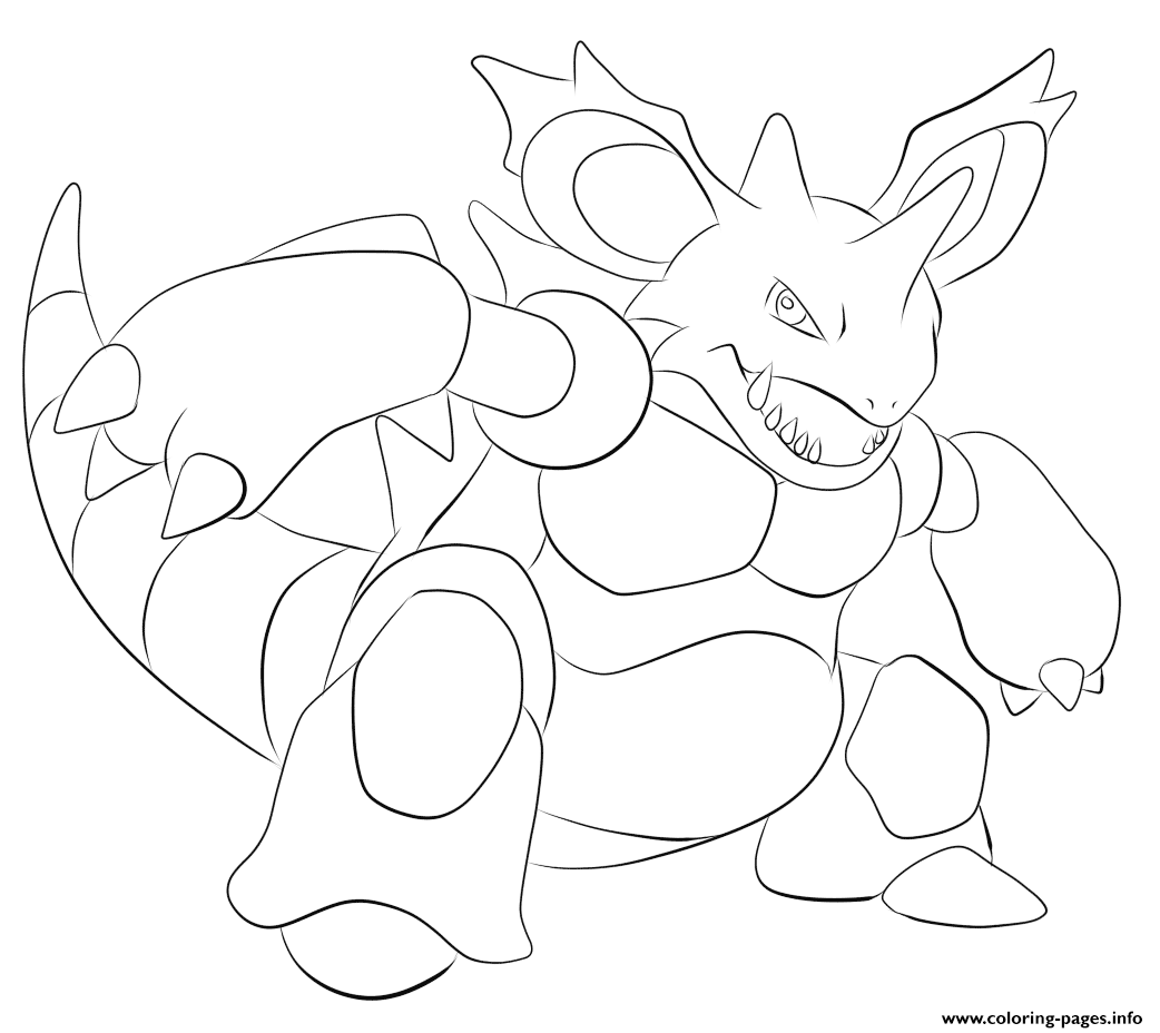 034 nidoking pokemon coloring pages printable