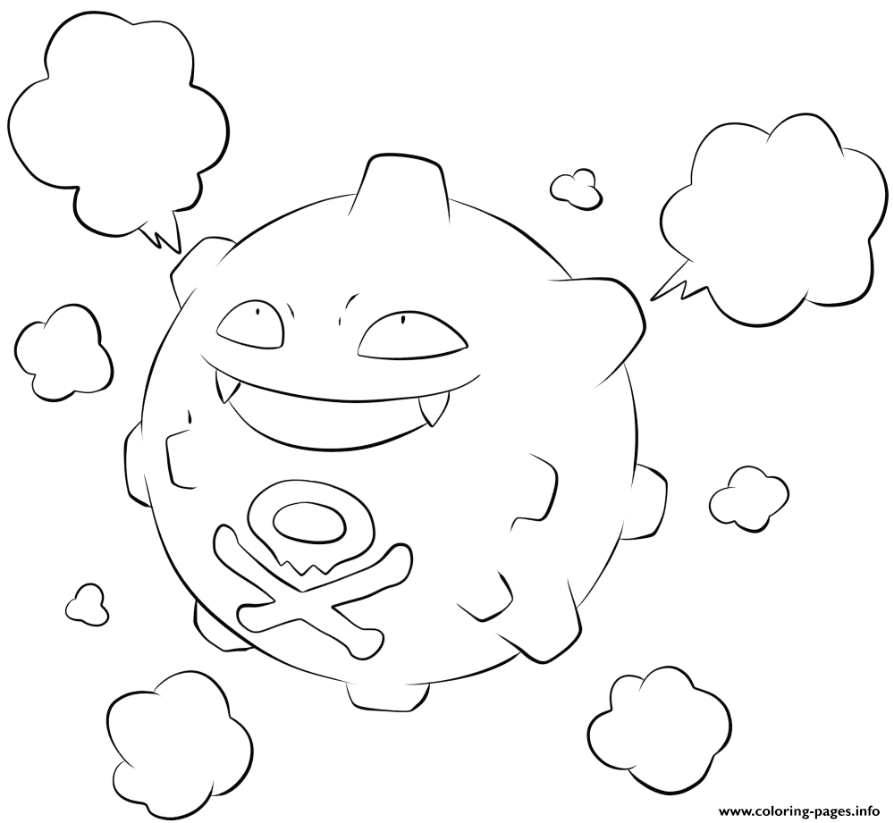 109 koffing pokemon coloring pages printable