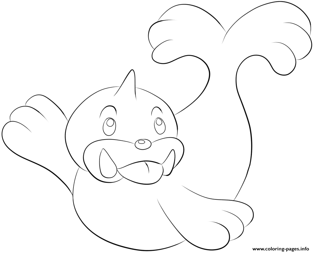 086 Seel Pokemon coloring pages