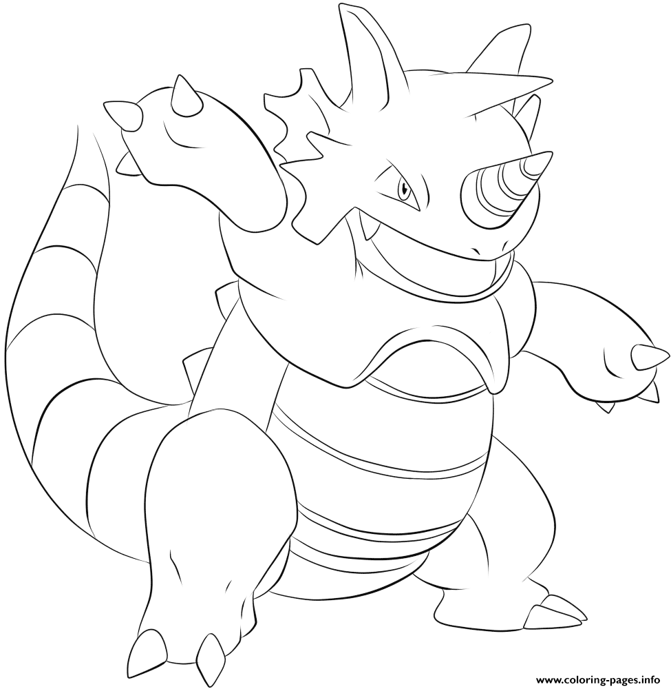 112 Rhydon Pokemon coloring pages
