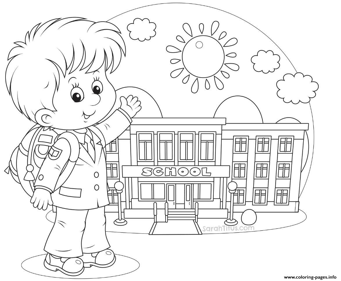 happy student school fist day coloring pages printable