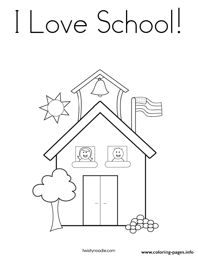 I Love School Coloring Pages Printable