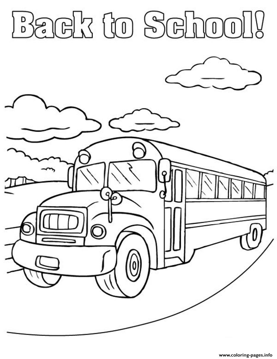 Back to school bus coloring pages printable for Back to school coloring pages free printables