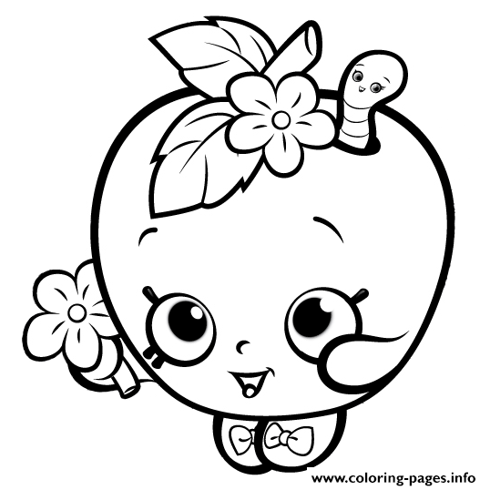 Cute Shopkins For Girls Coloring Pages Printable