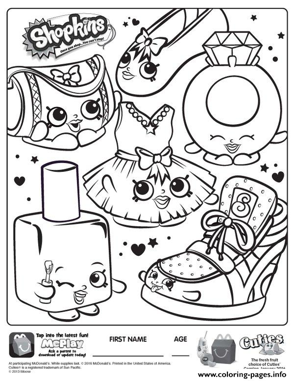 Free Shopkins New Coloring Pages Printable