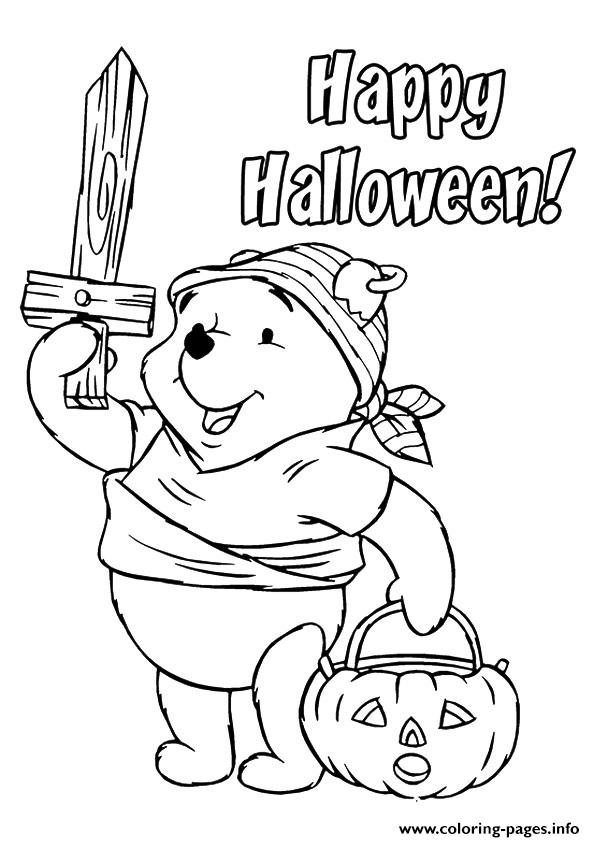 The Pooh As A Viking Disney Halloween Coloring Pages Print Download