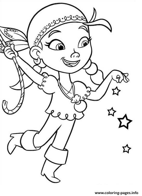 Izzy Jake And The Neverland Pirates Coloring Pages Printable  Izzy Jake And T...