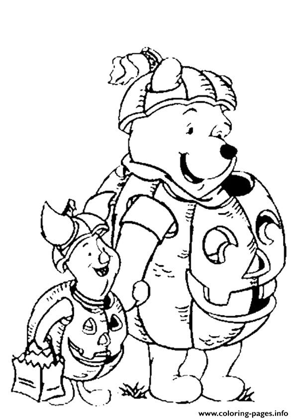 halloween pooh bear coloring pages - photo#29