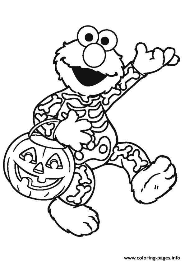 Elmo Halloween Disney Coloring Pages