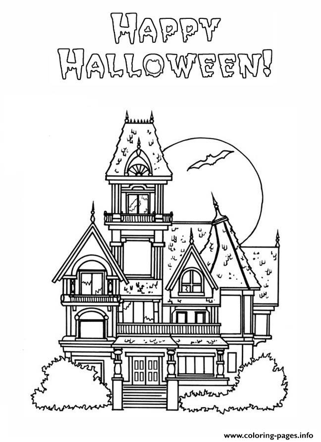 Haunted House S Halloween Coloring Pages Printable
