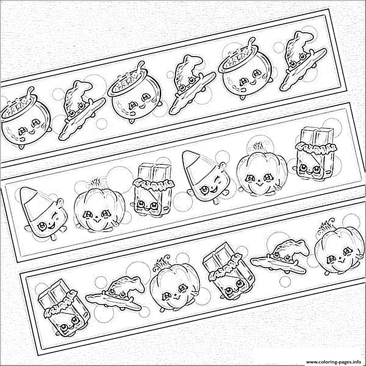 Shopkins Halloween Chocolate Pumpkins Kids coloring pages