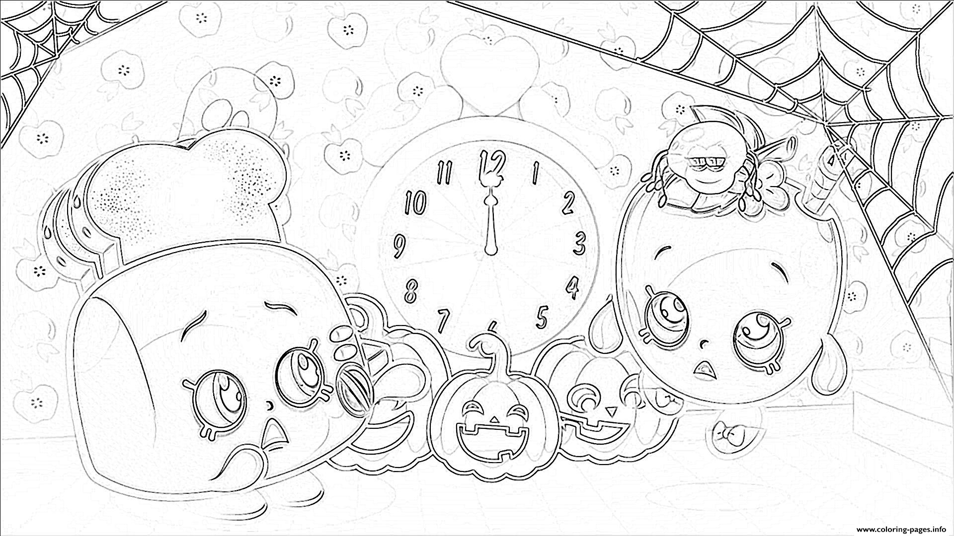 Shopkins Halloween Pumpkins Coloring Pages Printable