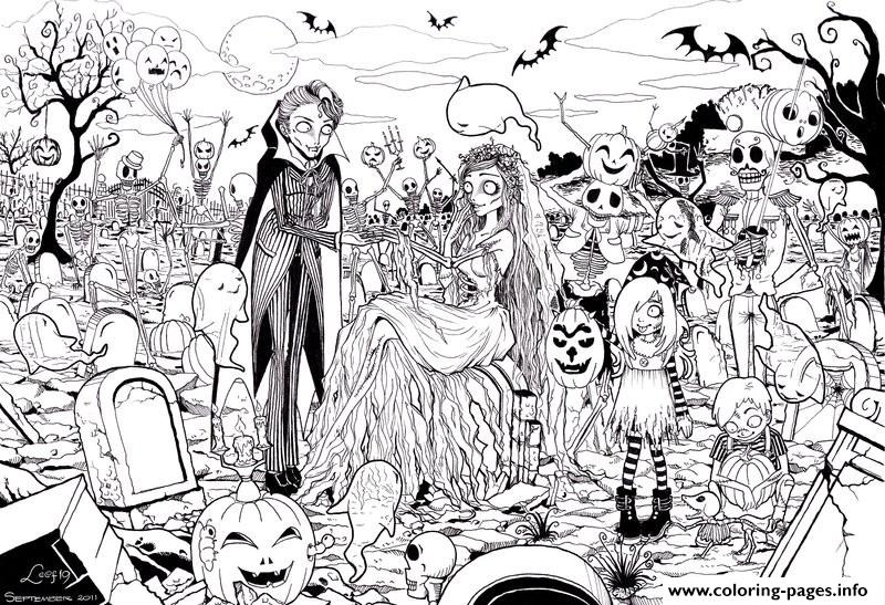 Hard Adult Halloween Coloring Pages Printable