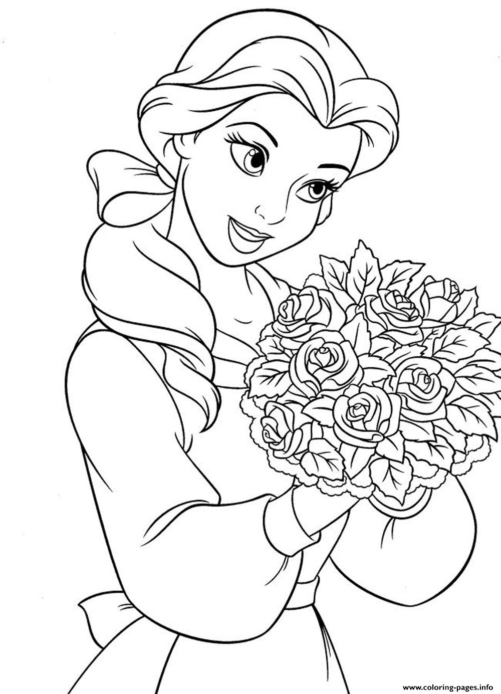 belle princess for girls disney2434 coloring pages