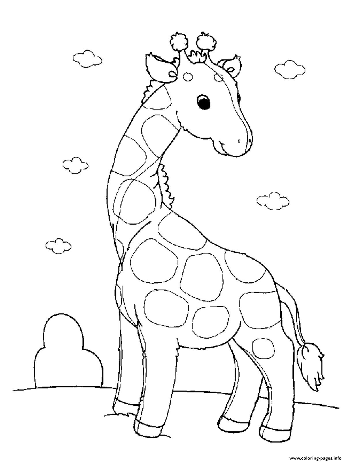 Baby Giraffe S For Girls Animals Printable13b0 coloring pages