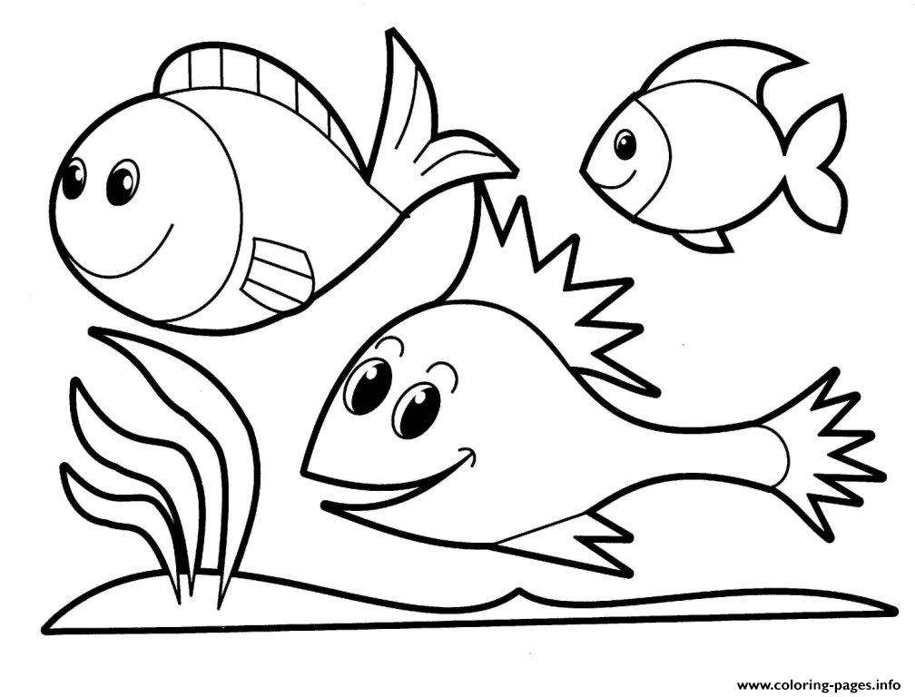 For Girls Animals Fish245e coloring pages