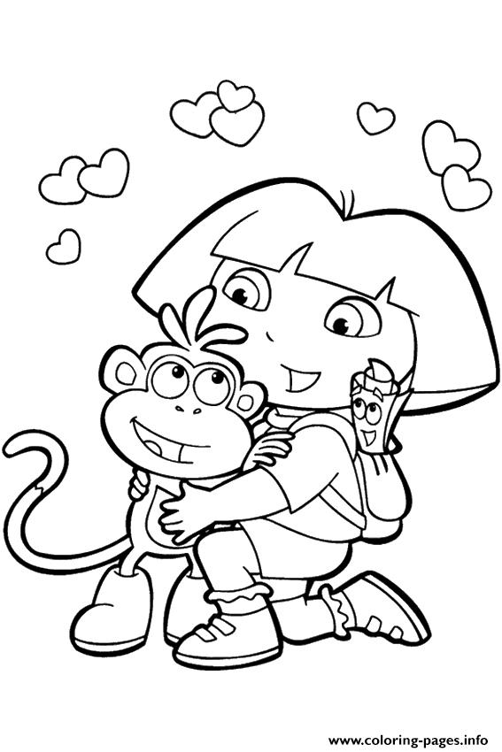 For Girls Dora And Friends790d coloring pages