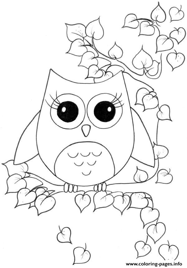 Girl Owl S For Girls 60bb coloring pages