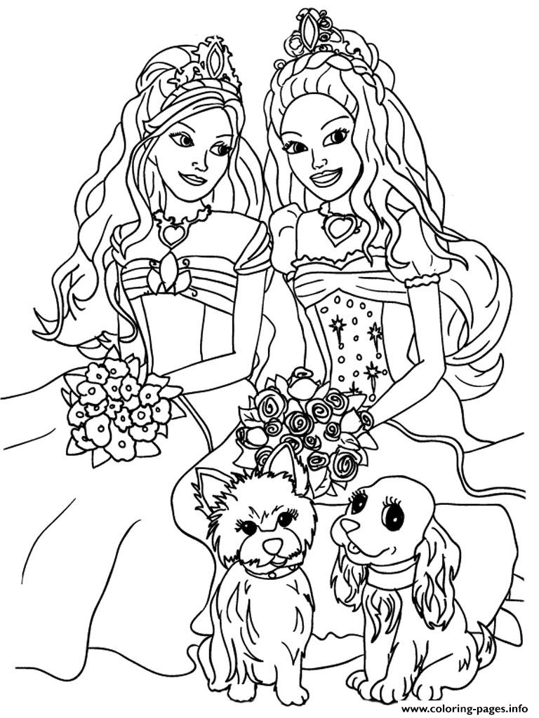 barbie s for girly girls 6765 coloring pages
