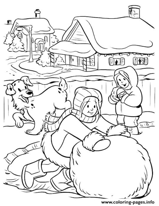 big snowball winter s for girls 04cd coloring pages