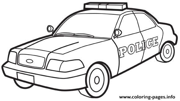 Police car coloring pages printable for Police car coloring pages to print