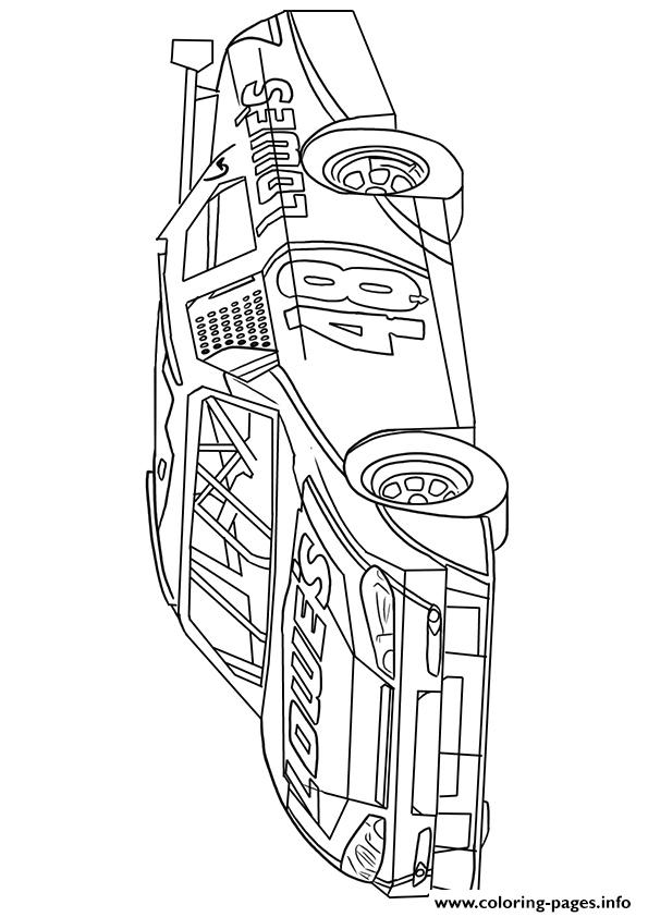 Full Force Race Car Coloring Pages | Free | NASCAR | Sports Car | 842x595