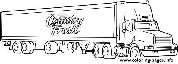semi printable coloring pages | Semi Truck Coloring Pages Printable