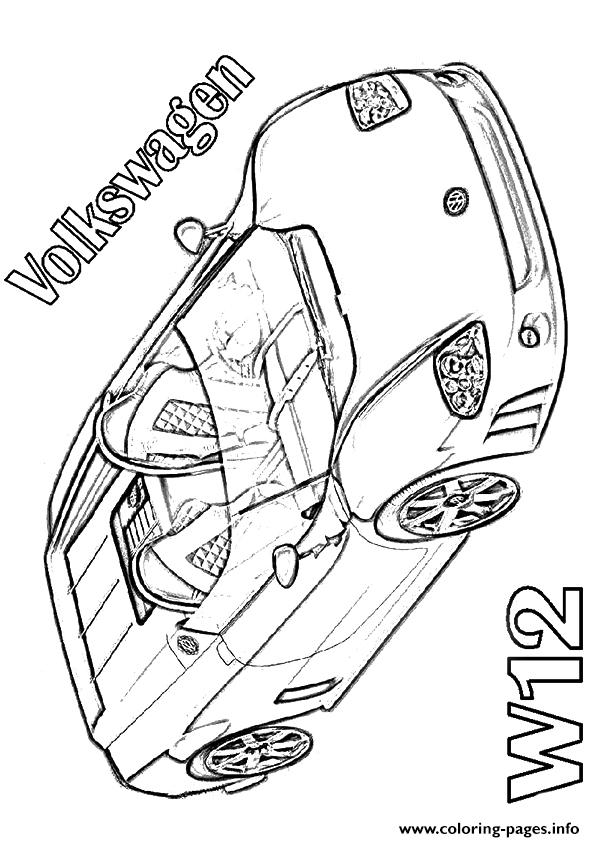 Volkswagen W12 Sports Car coloring pages