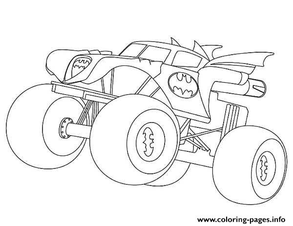 batman monster truck coloring pages printable. Black Bedroom Furniture Sets. Home Design Ideas