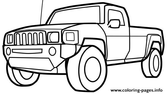 - Pickup Truck Car Coloring Pages Printable