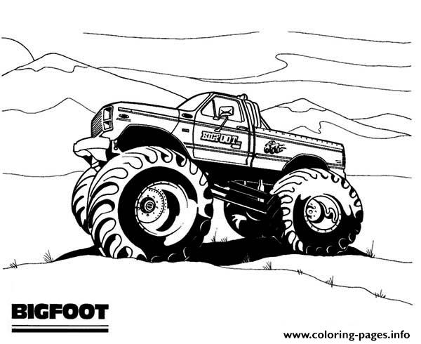 Big Foot Monster Truck coloring pages