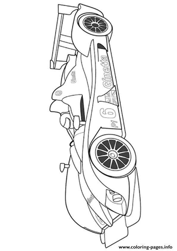 The Ginetta Sports Car Coloring Pages Printable