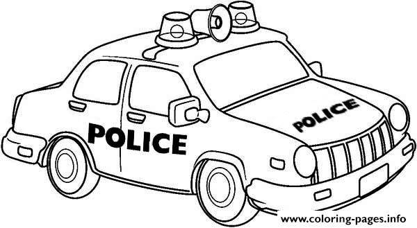 Newyork Police Car Coloring Pages Printable