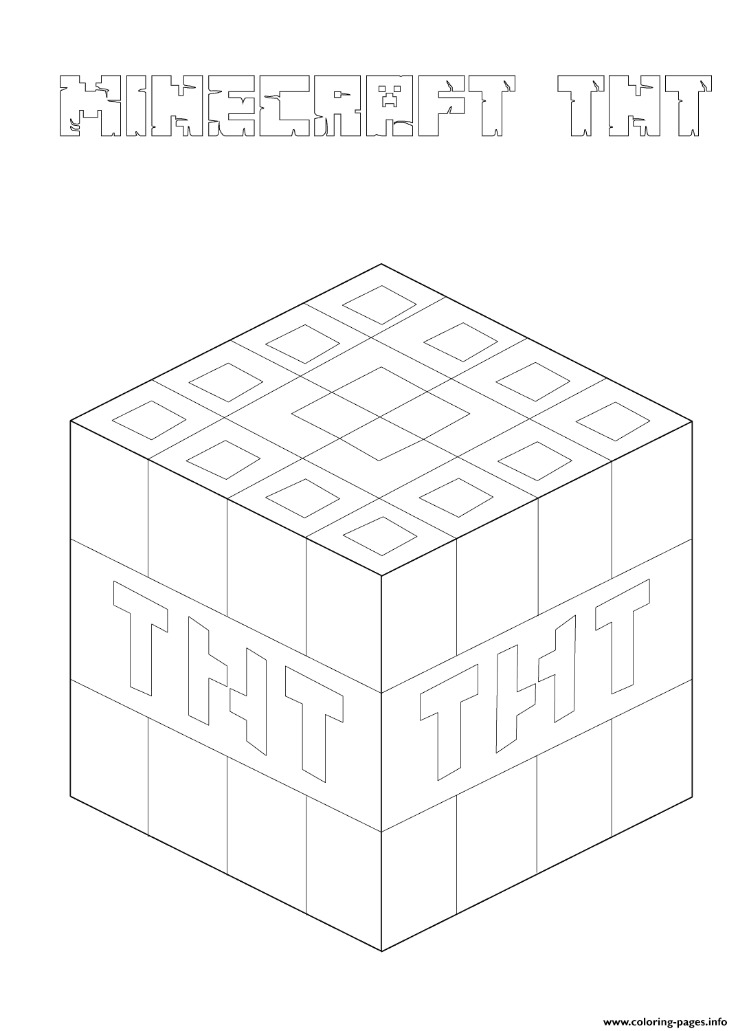 minecraft tnt coloring pages